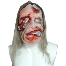 Cosplay party zombie bloody horrible adult scary puncture face halloween zombie mask