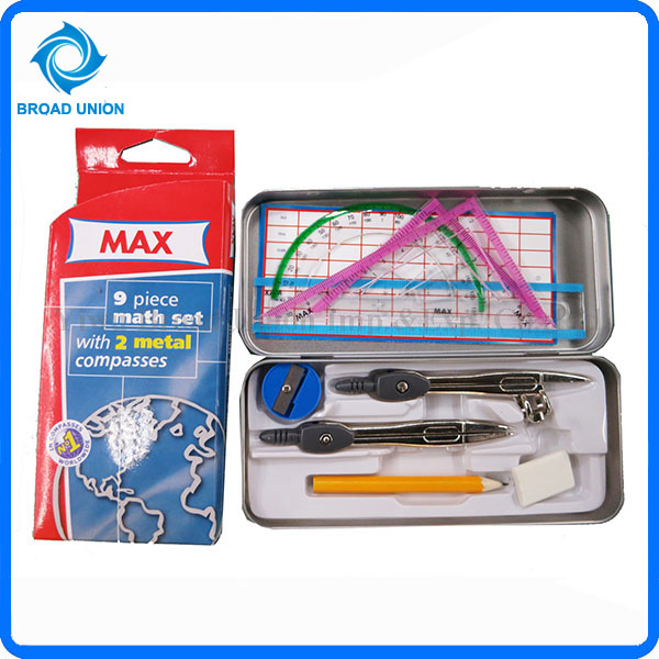 9PC Math Geometry Set Math Tool