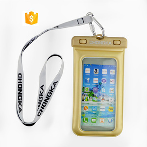 Hot PVC Waterproof Underwater Luminous Pouch Durable Diving Swim Outdoor Phone Bag Case for iphone 4 4S 5 5C 5S SE 6 6S
