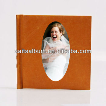 Handmade Faux leather photo book album_wedding album maker_photo album wholesale
