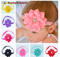 Europe and the United States foreign trade children's diamond headdress flower headbands lotus leaf baby hair band