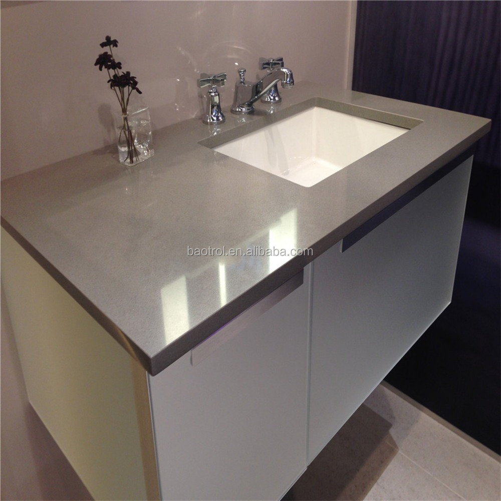 Quartz stone bathroom top artificial quartz bath vanity for Bathroom quartz vanity tops