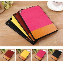 for apple ipad pro 9.7, Dual color ultra thin PU Leather Back cover Case for apple ipad pro 9.7