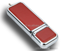 Custom Leather USB Flash 2.0 for promotion with CE, RoHS