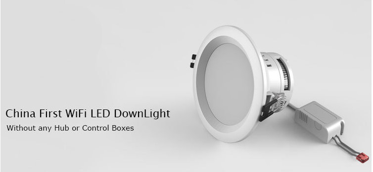 9W 5 inchs Color Changing RGBW Smart WiFi LED Downlight