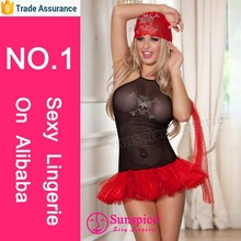 2015 wholesale Newest sexy red pirates costume short skirt