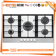 Luxury Stainless Steel NG or LPG integrated gas stove (PG9051S-CCI)