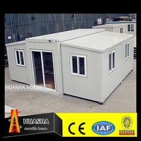 Prefab club cottage house with kitchen cabinet luxury steel for sale