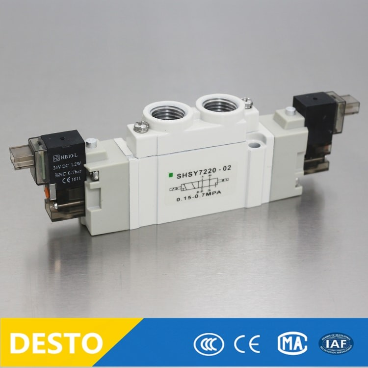 2 Position 5 port SY Series M5 thread pneumatic solenoid control New SMC valve