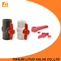 Plastic handle 4 inch pvc ball valve with good quality