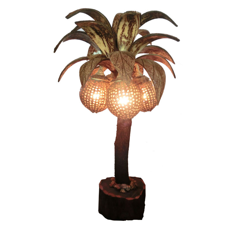 Handmade Coconut shell lamp