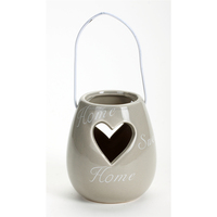 Sweet Home Decorative Heart Candle Holder With Handle