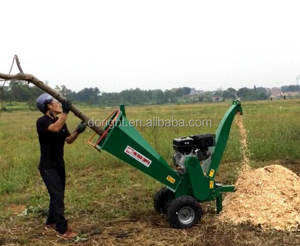 13HP Honda GX390, Kohler Command, Briggs & Stratton powered gasoline engine tree branch wood chipping machine