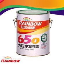 Environmental interior decorative wall coating with water base matt cement paint