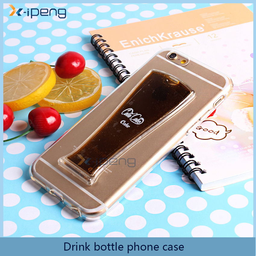 Drink bottle design Silicon back cover mobile phone accessories case for moto g4 g4 plus