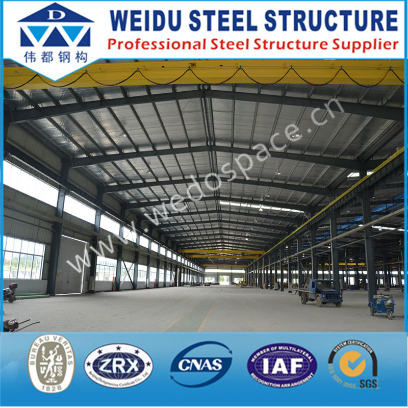 Cheap light prefabricated color steel warehouse building