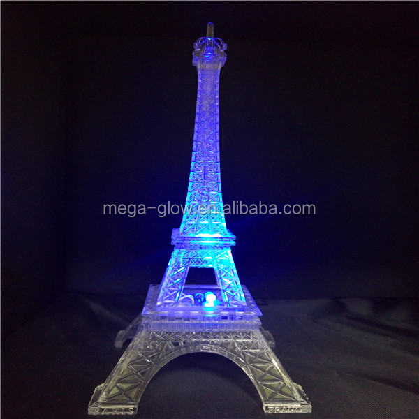 Good quality gLED Lighting eiffel tower decoration, eiffel tower centerpieces