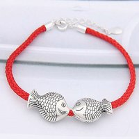 (07117) 2011 style high quality silver knotted string bracelets