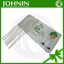 hot sales eco friendly white plastic pole high quality uv printing pe material shaking waving hands flag