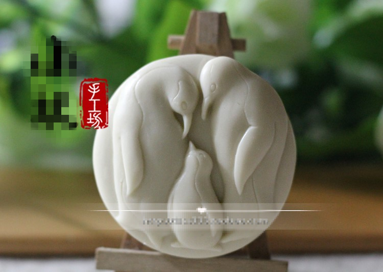 2017 Hot Sell ! 3D 130g Penguin Family Handmade Soap / Penguin Family Gift soap