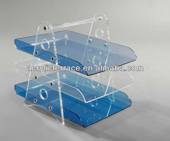 clear table top acrylic file holder Acrylic Newspaper Rack acrylic magazine holder