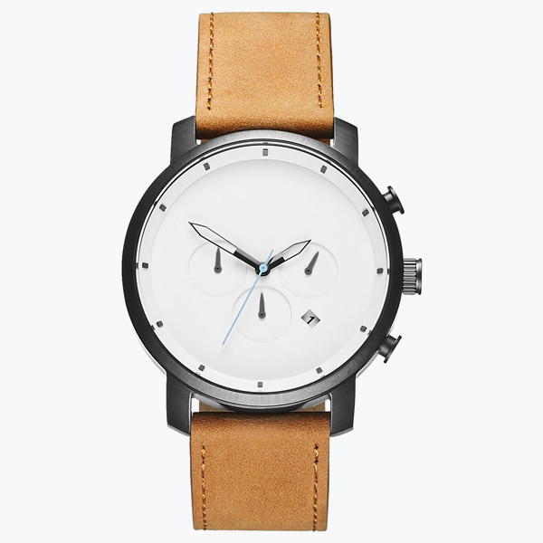 Minimalist Classic Watch Men Ultra Thin black brown Leather band Waterproof Simple Brand