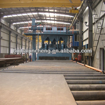 Q69 roller conveyor shot blasting machine for steel plate