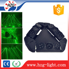 New 2016 Stage lighitng laser projector 9pcs Green Spider moving head laser light equipment dj