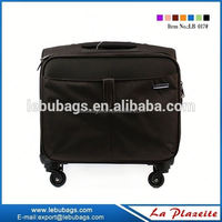 2015 China supplier carry rolling upright laptop briefcase luggage, simple nylon ladies laptop trolley bag