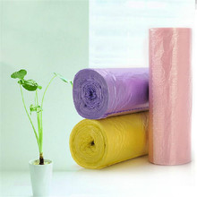 Star-sealed cheap biodegradable PE plastic garbage bag on roll