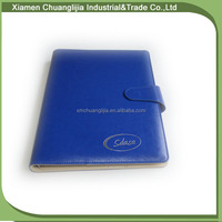 Professional and top sale A4metal rings leather notebook factory in China