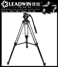 Max loading 10KG LW-PT03 LEADWIN pro aluminum DV tripod for photo video DSLR camera