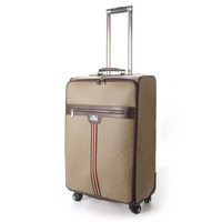 fashion travel leather luggage with universal wheels