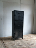 vintage french style industrial metal cabinet