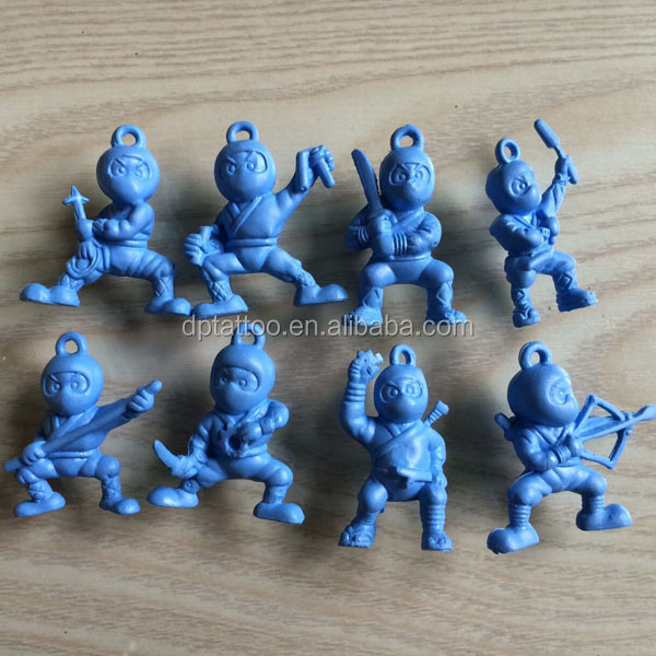 plastic capsule mini ninja toy