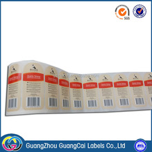 Cheap price self adhesive rolling printing stickers paper label