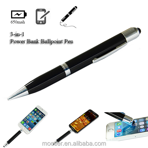 China innovation products unique gift ideas multi-function stylus pen power bank pen charger