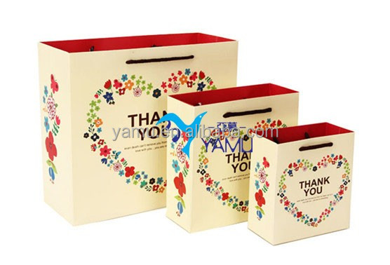 Memorial Day of gift packaging bag/there is love portable paper bag/romantic paper bag