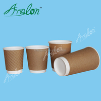 disposable double wall kraft paper cup