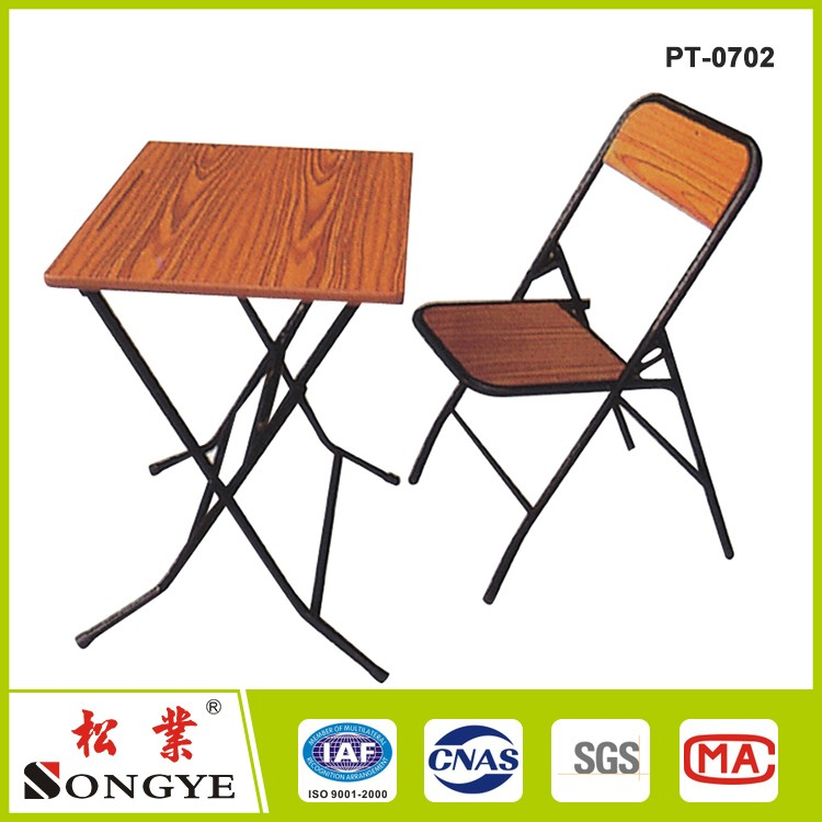 school sets folding study table and chair