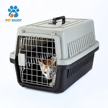 Small Plastic Cat & Dog Carrier Cage Portable Pet Box Airline Approved