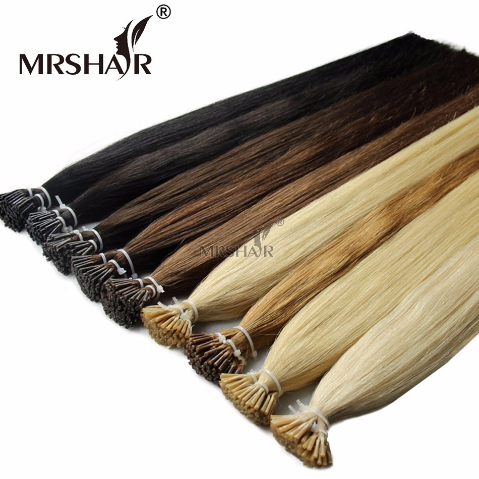 Stick I Tip Hair Pre Bonded Hair Extensions 1g/pc Silky Straight Keratin Brazilian Human Hair On Capsule