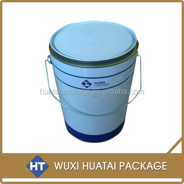 small metal tin bucket, 5l bucket for paint/ adhesive/ ink ,etc