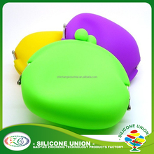 Wholesale Candy Color Silicone Ladies Wallets custom logos silicone coin purse