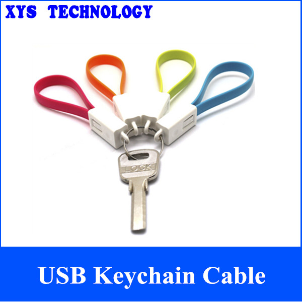Fashion Portable USB Keychain Cable for cellphone,USB Keychain Charging Cables/