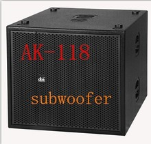 "2015 new style AK-118 strong power 18 ""subwoofer speaker for stage /line array nexo S-1230"