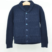 School Uniform Boys Cardigan Kids Winter Sweater