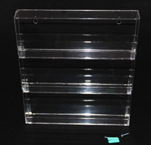 transprent e-liquid juice vape acrylic display showing stand slatwall clear acrylic e liquid display rack for e liquid bottles