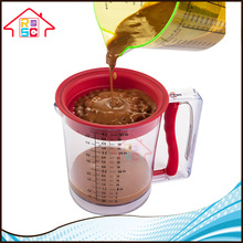 NBRSC TV Shopping Products 4 CUP Measuring Easy Release Gravy Fat Digital Plastic Grease Separator
