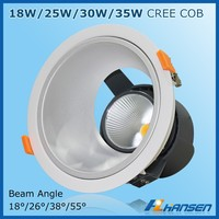6 inch RA>80 35w RA>80 35w high luminous C REE COB led downlight dimmable certifiate CE & RoHs & SAA